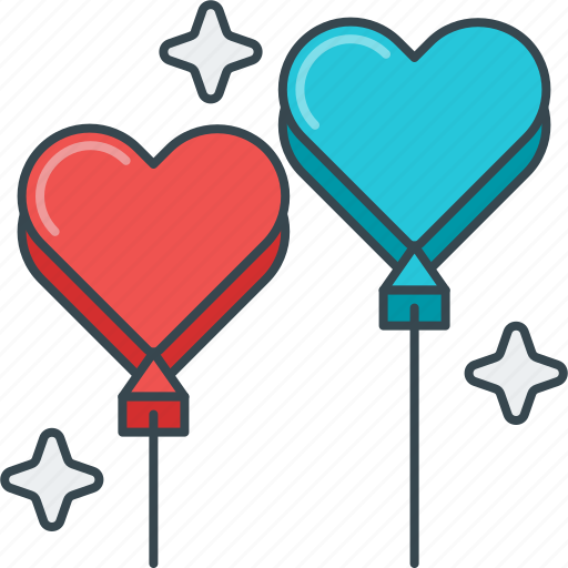 balloon, balloons, happiness, heart, hearts, love, satisfaction icon