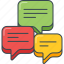 chat, comment, conversation, dialog, feedback, review, speech bubble