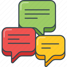 chat, comment, conversation, dialog, feedback, review, speech bubble icon