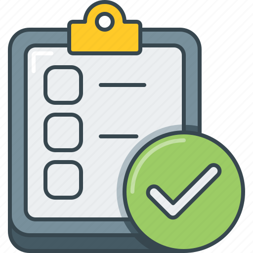 check, checklist, completed, done, list, survey, to do icon