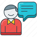 bubble, comment, customer, dialog, feedback, speech, testimonial icon