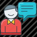 bubble, comment, customer, dialog, feedback, speech, testimonial