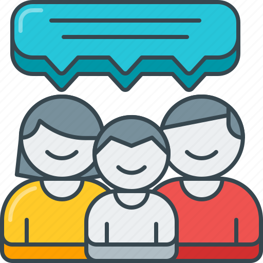 bubble, dialog, family, feedback, review, speech, testimonial icon