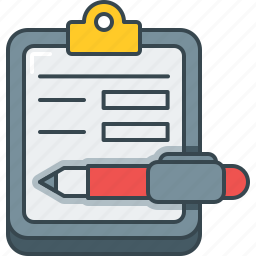 feedback, fill up form, form, pen, recommendation, review, suggestion icon