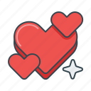 favorite, favourite, heart, hearts, like, love icon