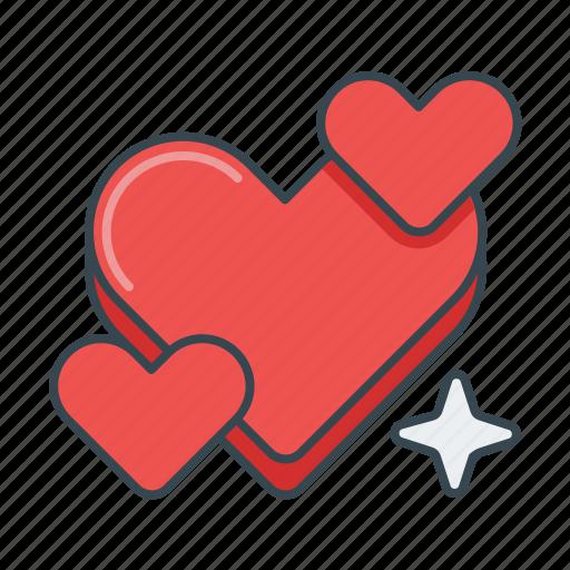 favorite, favourite, heart, hearts, like, love icon