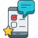 app, mobile, mobile app, productivity, questionnaire, survey icon