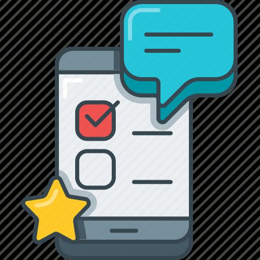 app, mobile, mobile app, productivity, questionnaire, survey icon