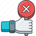 no, nope, reject, rejected, vote, voting icon
