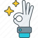 body language, gesture, hand, ok, okay, sign icon