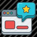 analytics, online, rating, star, statistics, stats, window icon