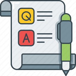 feedback, pen, q and a, question and answer, questionnaire, survey icon