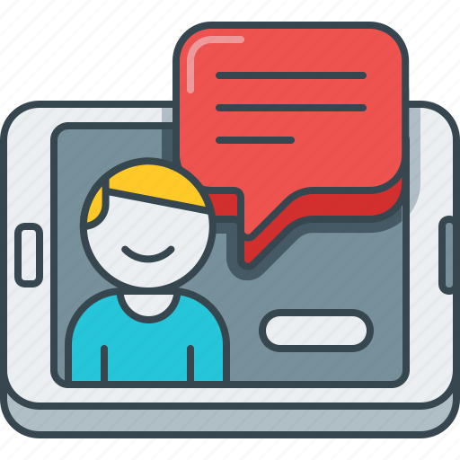 app, comment, device, feedback, online, smartphone, testimonials icon