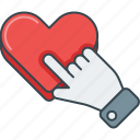 click, favorite, heart, like, love, please, press icon
