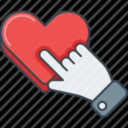 click, favorite, heart, like, love, please, press icon