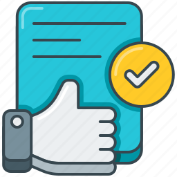 check, good, positive, review, thumbs up icon