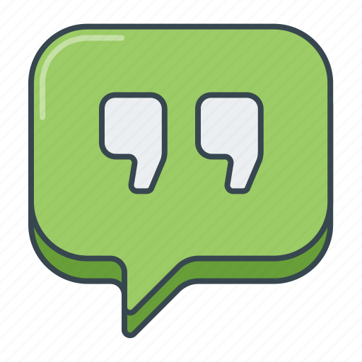 comment, feedback, quote, review, testimonial icon