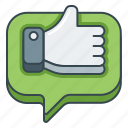 awesome, good, great, like, satisfied, thumbs up icon