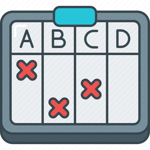 alphabet, answer, objective, questionnaire, rating, score, survey icon