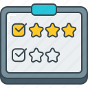 questionnaire, rating, star, stars, survey icon