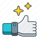 gesture, hand, like, ok, thumbs, up icon