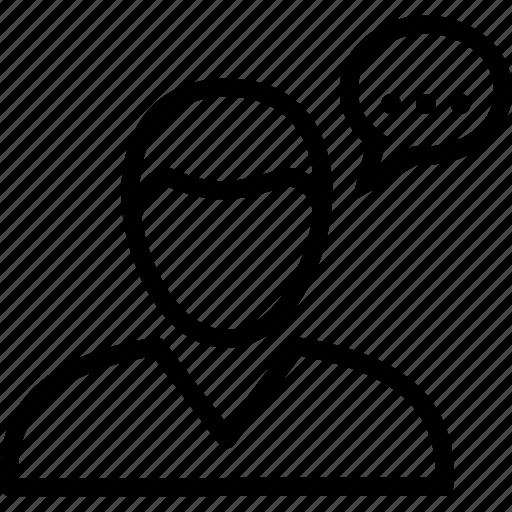 customer, feedback, review, testimonial, user icon