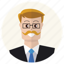 businessman, client, lawyer, person, professional, teacher, user icon