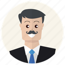 business, businessman, client, customer, people, person, suit icon