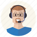 client, customer service, headphones, people, person, user, support