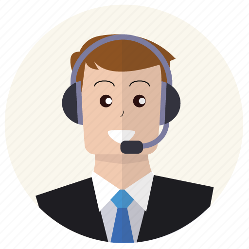 client, customer service, headphones, people, person, suit, user icon