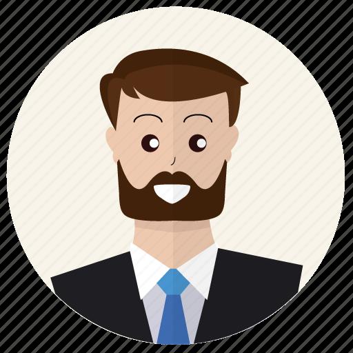businessman, client, customer, men, people, person, suit icon