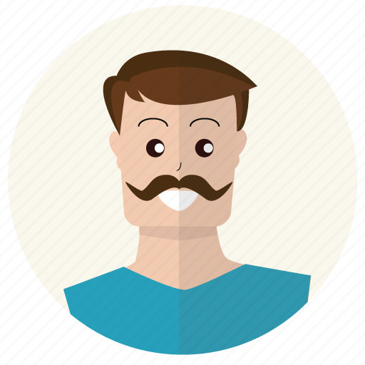 client, customer, man, moustache, mustache, person, user icon