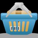basket, full, shopping