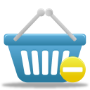 basket, prohibit, shopping icon