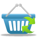 basket, refresh, shopping icon
