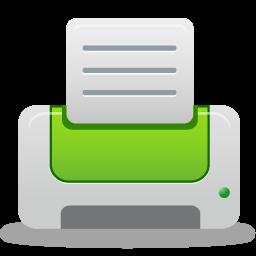 green, printer icon