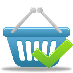 accept, basket, shopping icon