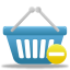 basket, prohibit, shopping icon