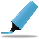 highlightmarker, blue