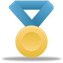metal, gold, blue, medal, award