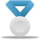 blue, metal, silver icon