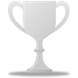 silver, trophy icon