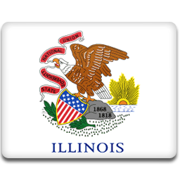 flag, illinois icon