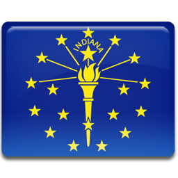 flag, indiana icon