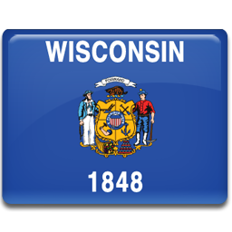 flag, wisconsin icon