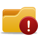 folder, warning icon