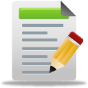 blog post, document, test, write icon