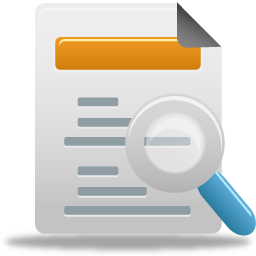 analysis, check, review, search, search docs icon