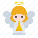 angel, heaven, horn, song, trumpet icon