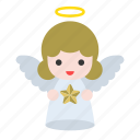 angel, christian, christmas, merry, star icon